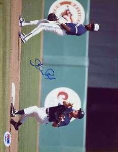 Steve Sax Yankees Psa/dna Signed Original Image 1/1 8x10 Photo Autograph