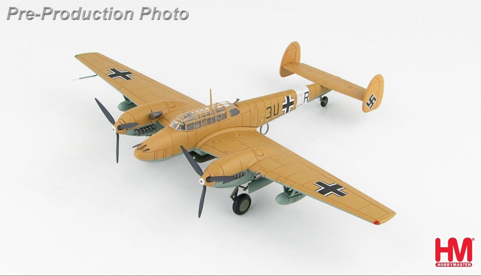 Messerschmitt Bf 110E-2 TROP 3U+OR 7. ZG-26 Luftwaffe Libya Hobby Master HA1815