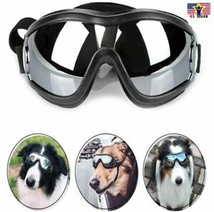 Dog-Pet-Puppy-Cat-Wind-Waterproof-UV-Black-Sunglasses-Goggle-Adjustable-Straps