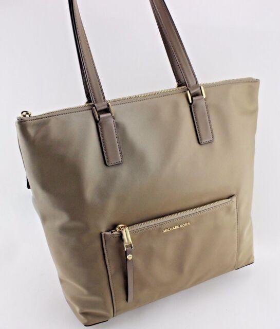 6a5c9ca2362cc9 Michael Kors Women's Ariana MK LG Tote Purse Bag Dusk Nylon Leather ...