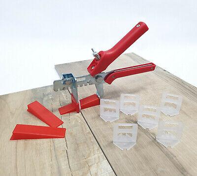 XXL Nivelliersystem Set 6000 Zuglaschen 2000 Keile 1 Zange 1,5mm Verlegehilfe Laschen Fliesen