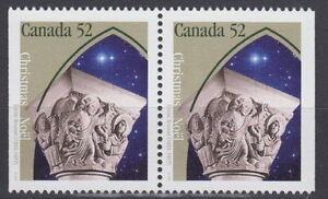 Canada-1586as-52-Christmas-Capital-Sculptures-Pair-from-Booklet-MNH