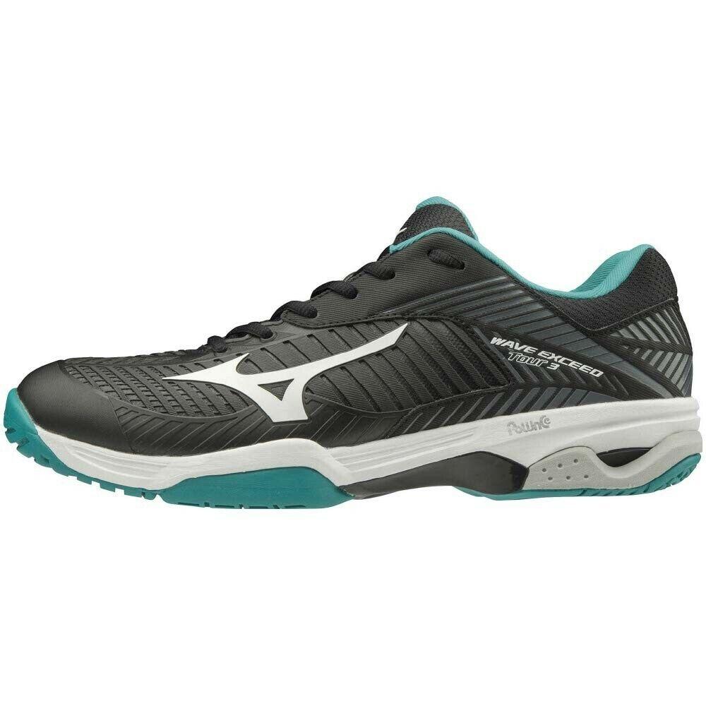 Zapatos tenis Mizuno Wave exceder Tour 3 OC 61GB1872 Negro verde blancoo × ×