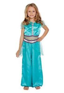 Girls Aladdin Arabian Princess Style Book Day Fancy Dress Costume Jasmine outfit