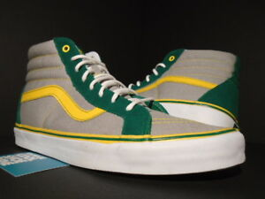 c2dbf0b7e0279 Details about VANS SK8-HI REISSUE S SHOEBIZ OAKLAND ATHLETICS A'S GREY  GREEN YELLOW WHITE 12