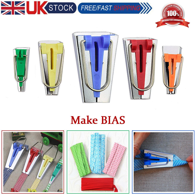 4pcs//set Tape Maker Binding Fabric Clover Bias Craft Sewing Tools Nice UK