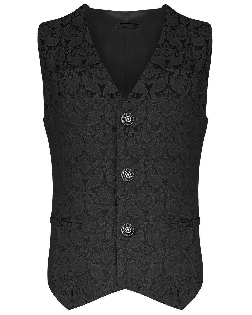 New Men's Vest Waistcoat Gothic Steampunk Victorian SOA Biker Club Vest USA