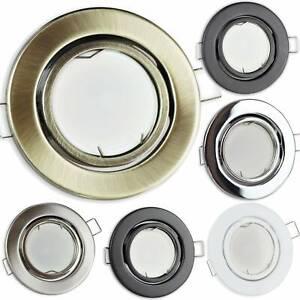 LED Einbaustrahler GU10 230 Volt 1,2-9W schwenkbar rund flach Einbauspot