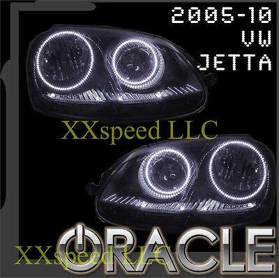 ORACLE VW Volkswagen Jetta 2005-2010 WHITE LED Headlight Halo Angel Eyes Kit