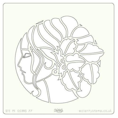 """Sellos de claridad 7/"""" X 7/"""" plantilla Ivy Cameo STE-PE-00395-77 350 micras"""