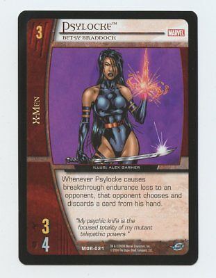 2004 VS System Marvel Psylocke Betsy Braddock NM MOR-021