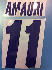 fiorentina kit AMAURI viola plastica Nameset maglia calcio lotto