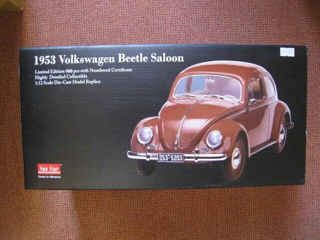 VW Beetle 1953 limitée à 900 unités SUN STAR 5203 1 12 Neuf dans sa boîte