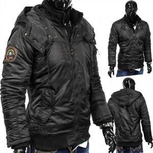 Veste-d-039-hiver-homme-a-capuche-Jacke-Blade-Core-Biker-Parker-Steppdesign