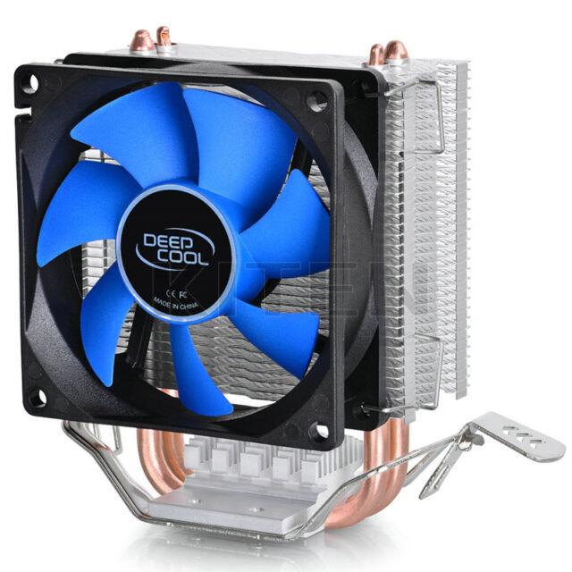 8CM Fan CPU Cooler Heatsink Dual Pipe for Intel LGA775 Core i7 AMD FM2 AM2/AM3+