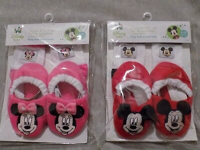 Disney Baby Minnie Mouse Bootie Sock Set /& Headwrap Polka Dots Red White NIB