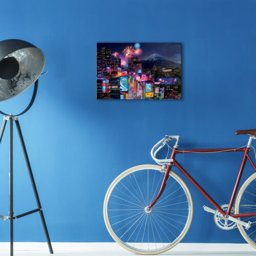SC180 Colourful Tokyo City Cool Landscape Canvas Wall Art Large Picture Prints