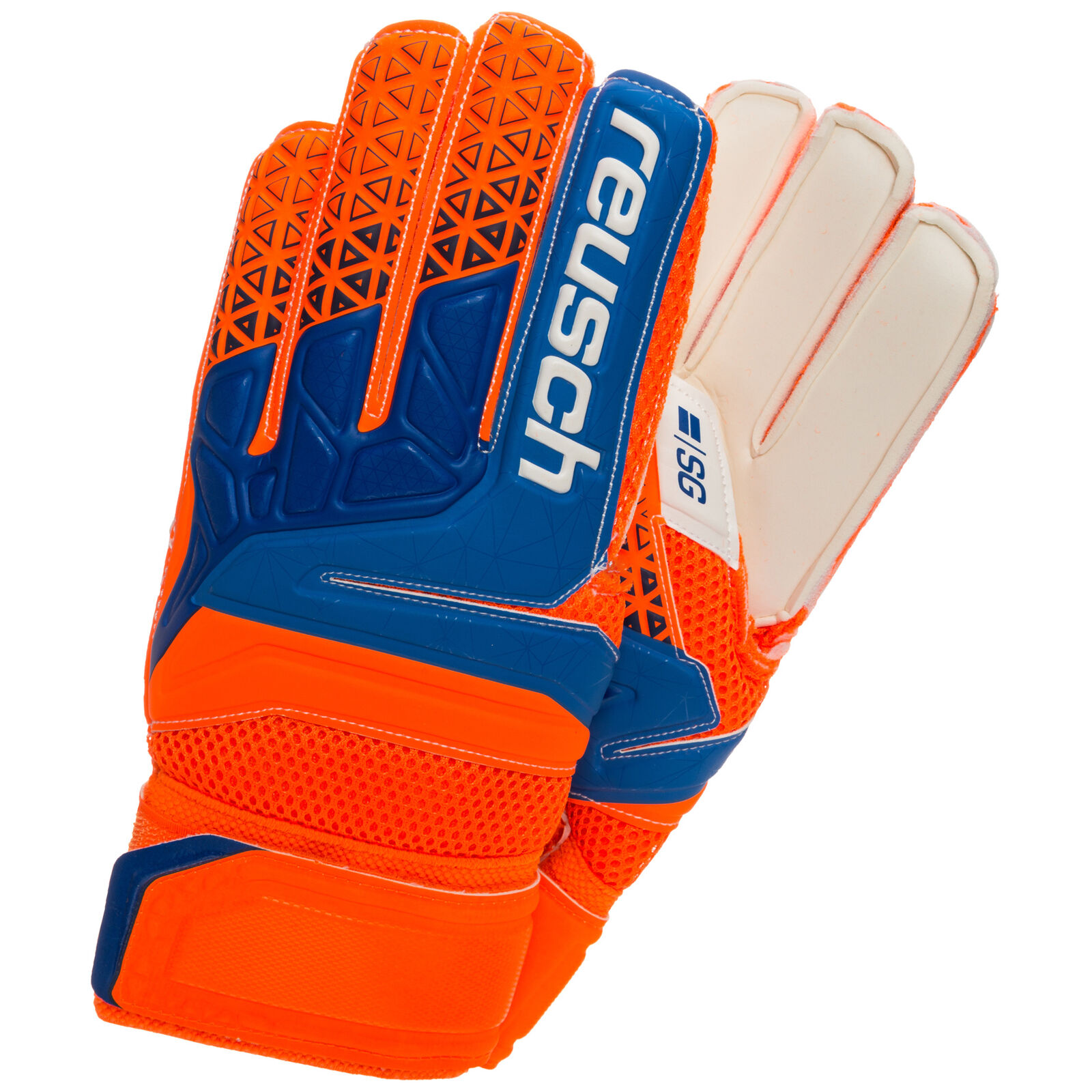 Reusch Prisma SG Finger Support Torwarthandschuh Herren Orange   blau NEU