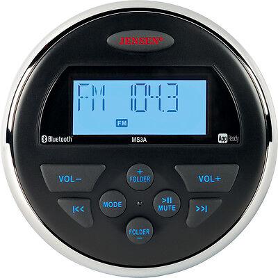 Jensen AM FM USB APP Waterproof Marine BLUETOOTH Compact Radio Stereo MS3ARTL