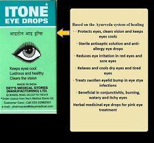 ITONE Herbal Ophthacare Ayurvedic Eye Drops Computer Conjunctivitis Allergy User