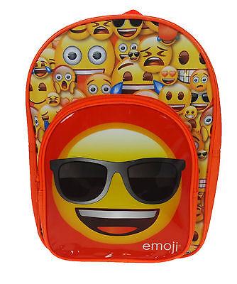 Emoji Emozioni | | Faccina Sorridente Arancio Anteriore Con Zip Zaino | Zaino | Scuola Borsa-mostra Il Titolo Originale Ottima Qualità