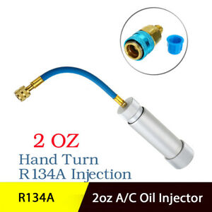 Oil Dye Injector 2oz A/C Hand Turn Pump Olier Injection For