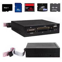 "3.5"" USB 2.0 All-in-1 Internal Flash Drive Memory Card Reader TF/CF/MD/SD/MMC CG"