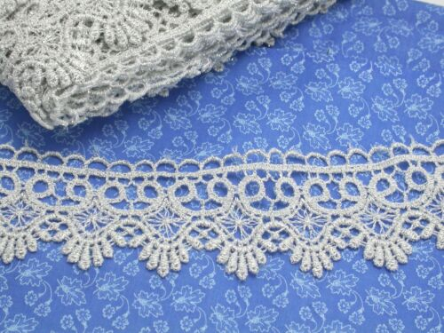 50mm Metallic Silver 5 Yards Venise Lace 2/""