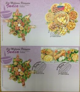 Malaysia FDC with MS & Stamps (17.10.2017) - Festival Food Series Indian