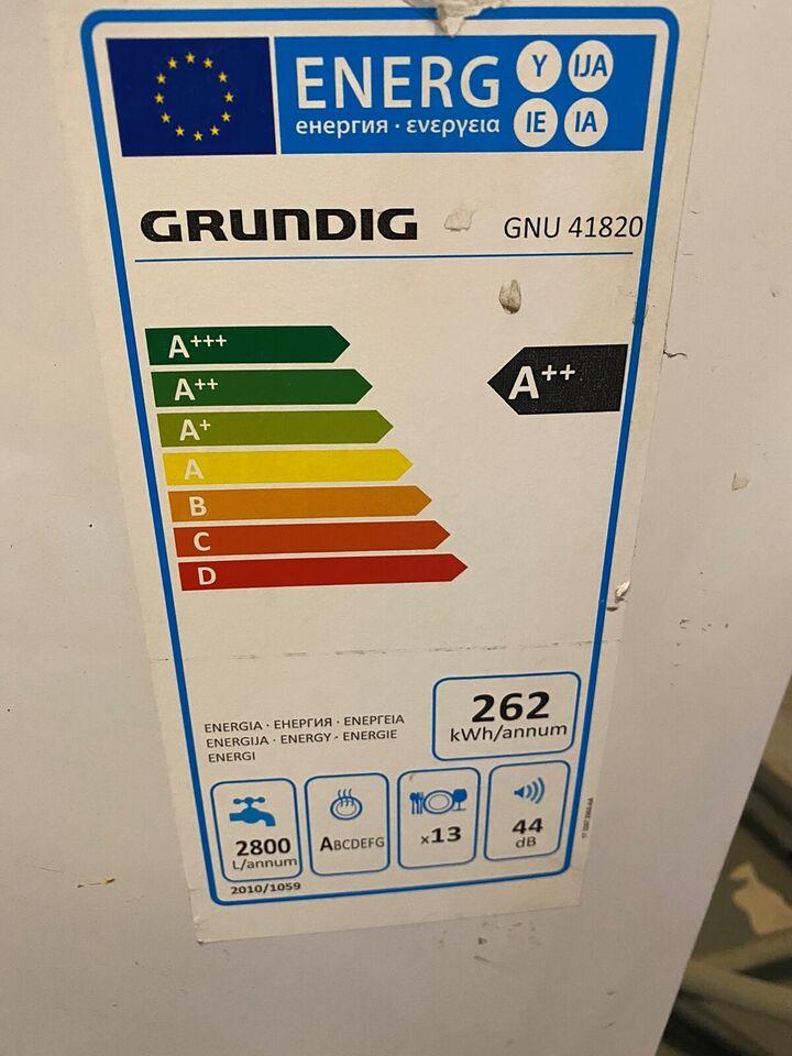 Andet mærke Grundvig Gnu41820, energiklasse A++, b: 59 d:
