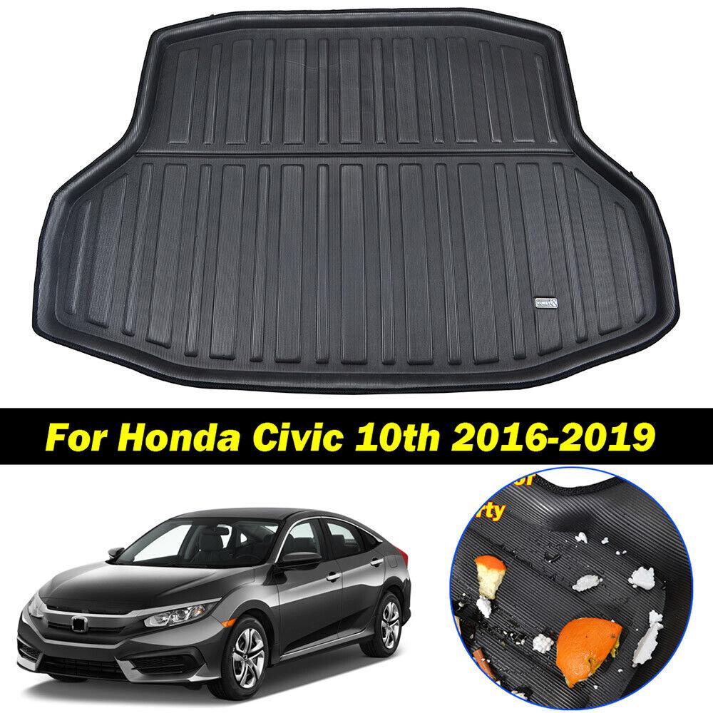 Rear Trunk Tray Cargo Liner Mat Boot Floor For Honda Civic Sedan Coupe 2012-2015