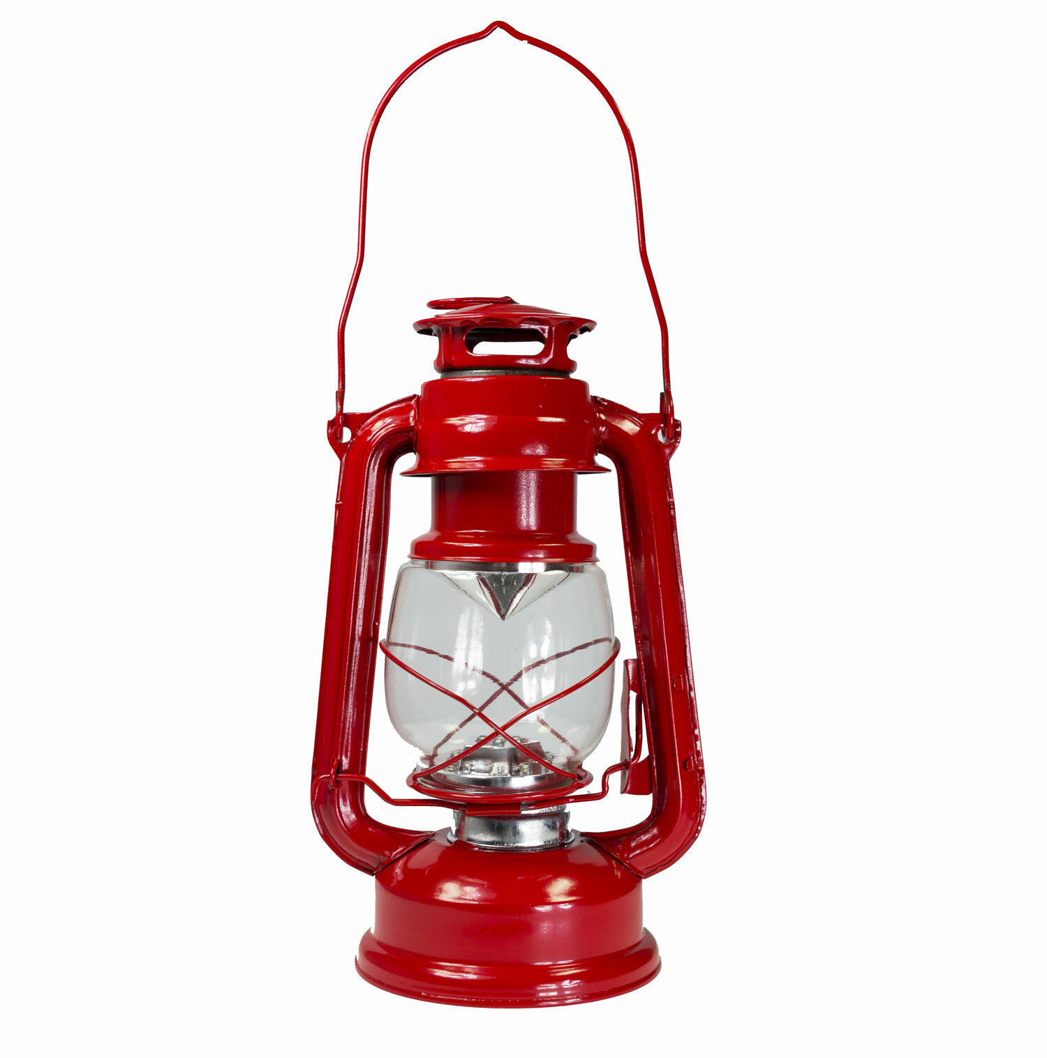 Dimmable portable ouragan lanterne lampe 15 led camping camping camping tente transporter lampe ~ rouge 908522