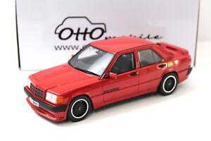 1-18-Otto-Mercedes-Brabus-190e-3-6-S-w201-RED-1989-NEW-chez-Premium-modelcars