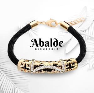 Elegante Pulsera Pulseras Mujer Oro Negro Cristal Austriaco Moda Regalo ideal