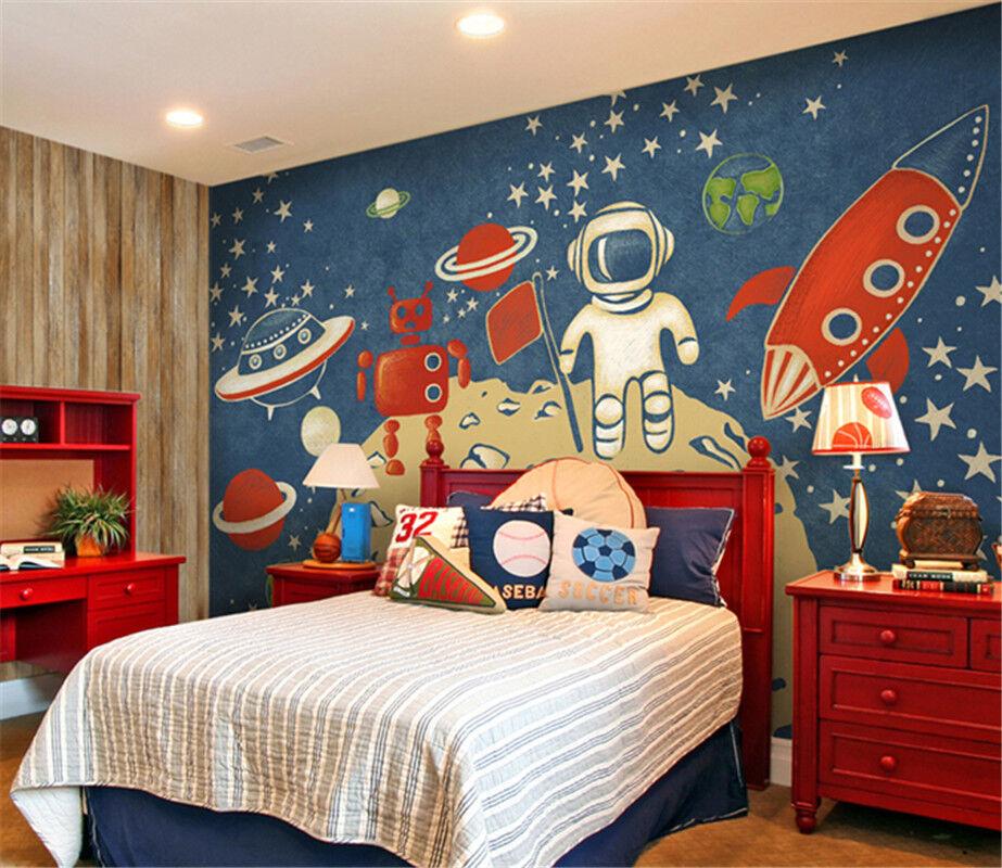 3D Cartoon Astronaut7 Tapete Tapeten Mauer Foto Familie Tapete Wandgemälde DE