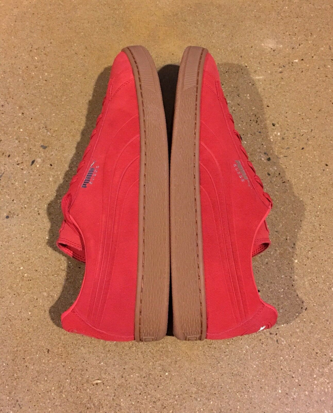 Puma Suede Emboss Men's Size 14 US High Risk Red Gum BMX DC shoes Sneakers