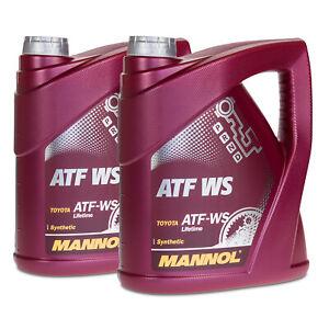 8 (2x4) Litre Mannol Atf Ws Automatique Transmission Pour , Aisin Warner, Toyota