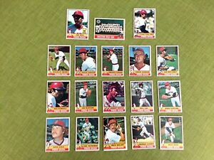 1976-TOPPS-BASEBALL-BOSTON-RED-SOX-COMPLETE-TEAM-SET-26-CARDS-EXMT-NM-YAZ-RICE