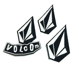Volcom 3pcs Logo full Embroidery Patch logo iron,sewing on Clothes