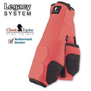 Classic Equine LEGACY SYSTEM Coral Front M SMB Leg Vented Neoprene Sport Boots