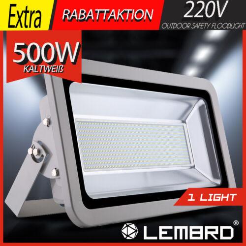 500W LED Fluter Kaltweiß Strahler Scheinwerfer Flutlicht Außen Licht IP65 220V
