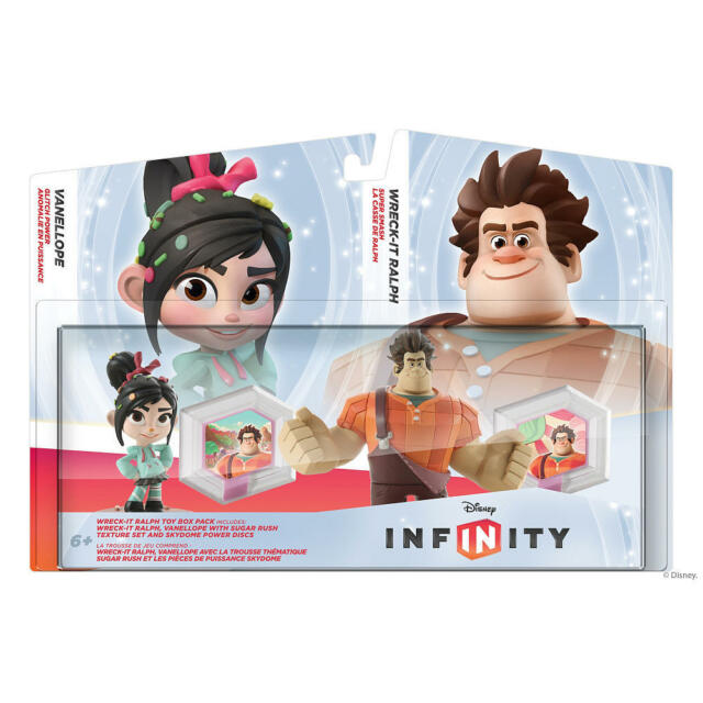 Disney INFINITY Wreck It Ralph & Vanellope Toy Box Pack Game Play Action Figures