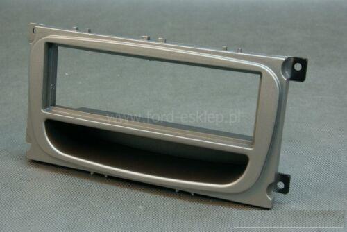 1-DIN Radioblende mit Ablagefach Ford Focus Mondeo silber
