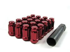 "20 Pc Set Spline Tuner Lug Nuts ¦ 1/2"" ¦ Red ¦ Jeep Cherokee Wrangler TJ"