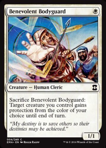 English x4 Benevolent Bodyguard MTG Eternal Masters C M//NM