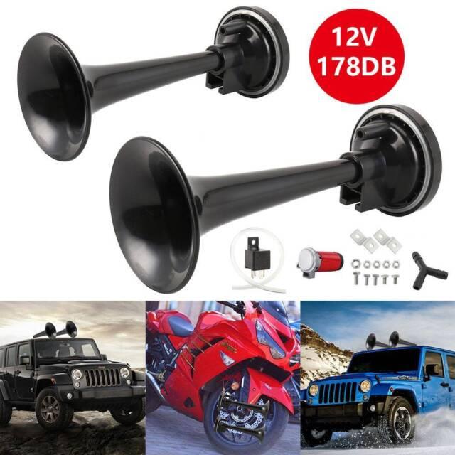 178db Truck Mega Train Single Trumpet Air Horn Kit w DC 12V Compressor New AU