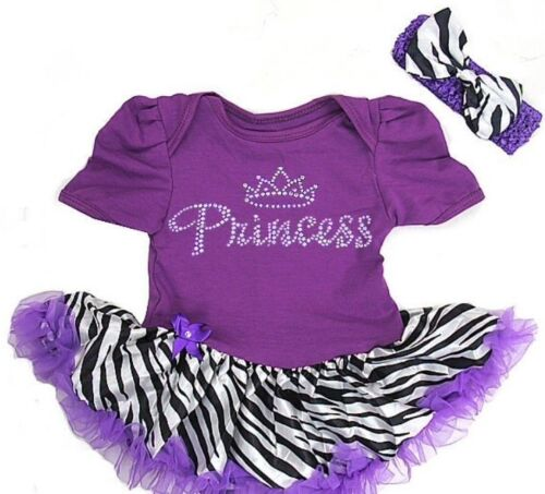 Girls Princess Party Tutu Romper Headband Birthday Diamante Baby Outfit Cute