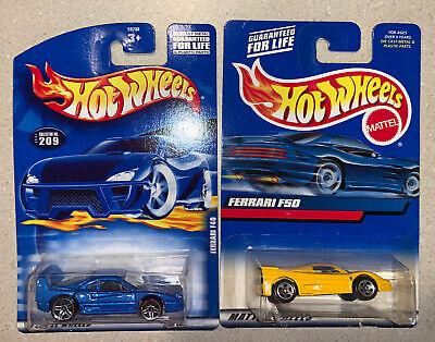 Lot Of 2 Hot Wheels Ferrari F50 (Yellow, 2000) Ferrari F40 (Blue, 2001) | eBay