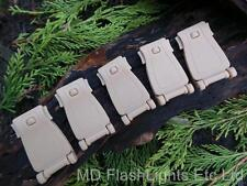5 x DESERT TAN POM WEBBING MOLLE STRAP BUCKLES BUSHCRAFT SURVIVAL LOAD CARRIAGE