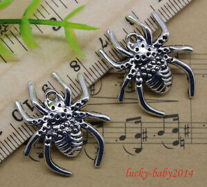 20pcs retro style Lovely spider alloy charm pendant 29x25mm